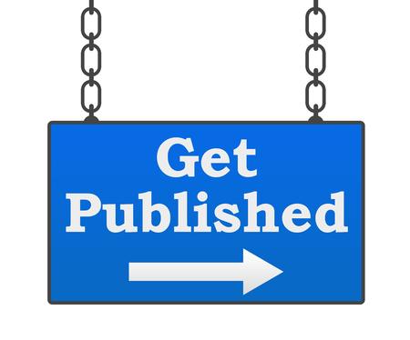 published: Get Published Signboard Stock Photo