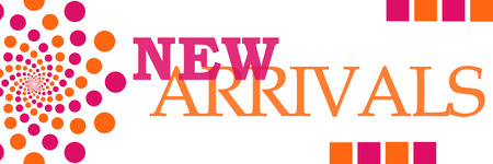 arrivals: New Arrivals Pink Orange Dots Horizontal