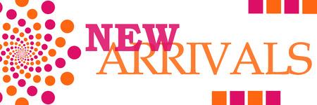 New Arrivals Pink Orange Dots Horizontal