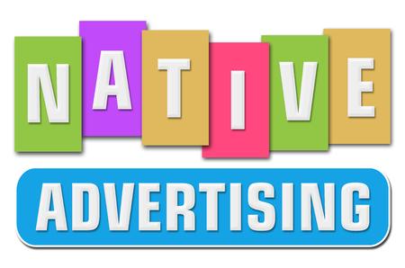 online bidding: Native Advertising Colorful Stripes