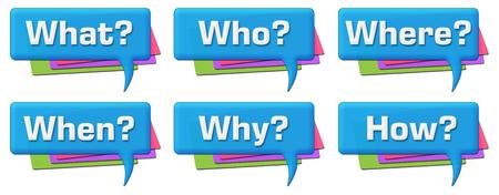 questions: Questions Colorful Comments Symbols