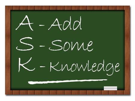 ask: Ask Formula Classroom Board Stock Photo