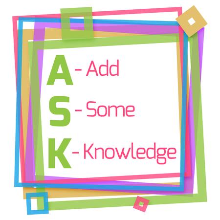colorful frame: Ask Formula Colorful Frame