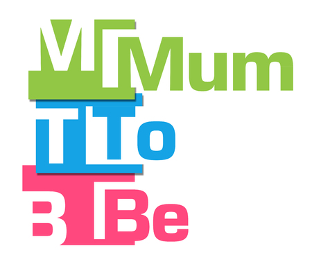 be: Mum To Be Abstract Colorful Stripes