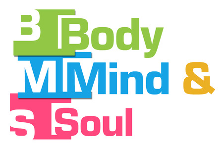 mind body soul: Body Mind Soul Abstract Colorful Stripes
