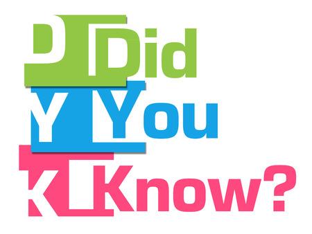 Le saviez-vous Résumé des rayures colorées Banque d'images - 48541267
