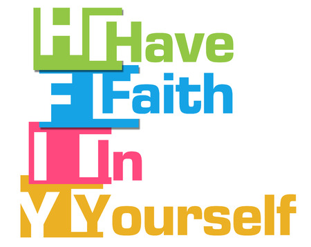 yourself: Have Faith In Yourself Colorful Stripes Stock Photo