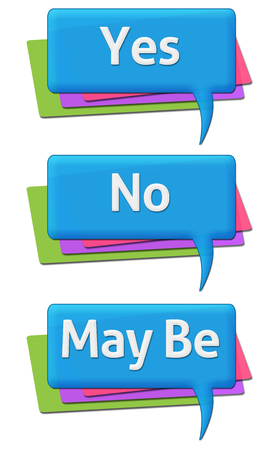 Yes Know May Be Colorful Comments Symbols Stock Photo Picture And