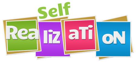 self realization: Self Realization Colorful Blocks