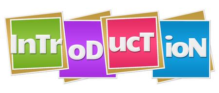 Introduzione blocchi colorati