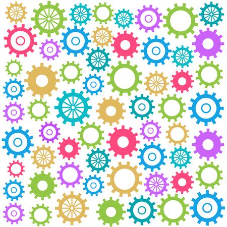 gears background: Colorful Gears Background Square