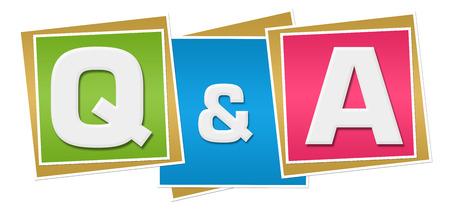 q: Q And A Colorful Blocks