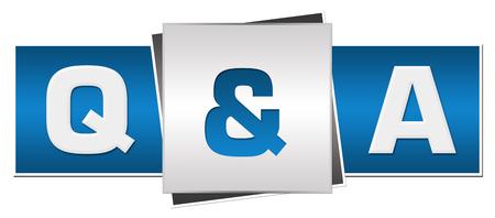 Q Et A Bleu Gris Horizontal Banque d'images - 50161698