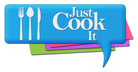 culinary skills: Just Cook It Colorful Comments Symbols
