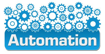 Automation mit blauen Gears On Top Standard-Bild