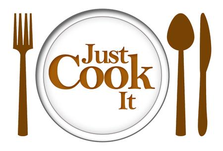 food plate: Just Cook It Food Plate