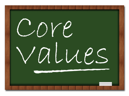 greenboard: Core Values Classroom Board Stock Photo