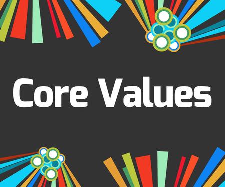 nucleo: Valores Principales elementos coloridos oscuros
