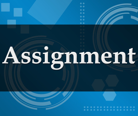 assignment: Assignment Technical Background Stock Photo