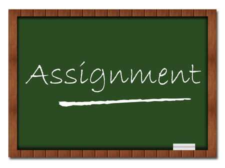 Assignment Classroom Board Stock Photo