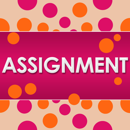 assignment: Assignment Pink Orange Dots Stock Photo