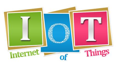 IoT - Internet Of Things Colorful Blocks