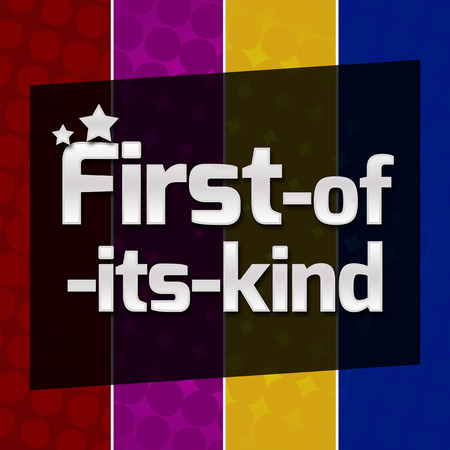 kind of: First Of Its Kind Colorful Halftone Background Stock Photo