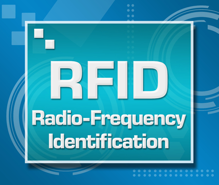 rfid: RFID Blue Technical Background