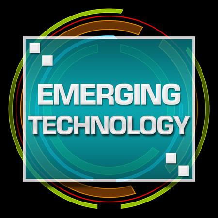 emerging: Emerging Technology Black Technical Circle Stock Photo