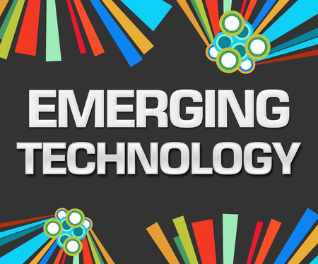 emerging: Emerging Technology Dark Colorful Stock Photo