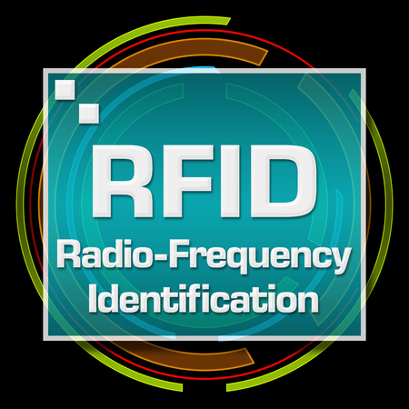 rfid: RFID Black Technical Circle