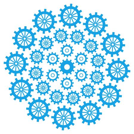 productivity system: Gears Circular Blue