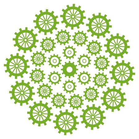 sprockets: Gears Circular Green