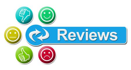 reviews: Reviews Circular Colorful Elements Stock Photo