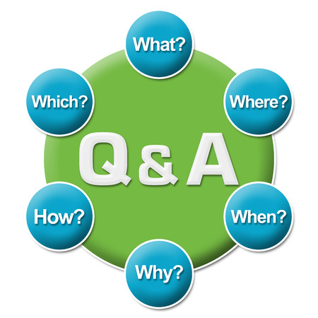any: Q And A Questions Circular Stock Photo