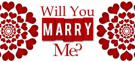 Sie mich rote Herz-Streifen-horizontales Marry