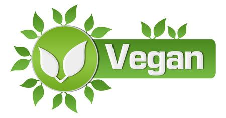 horizontal: Vegan Leaves Circular Horizontal Stock Photo