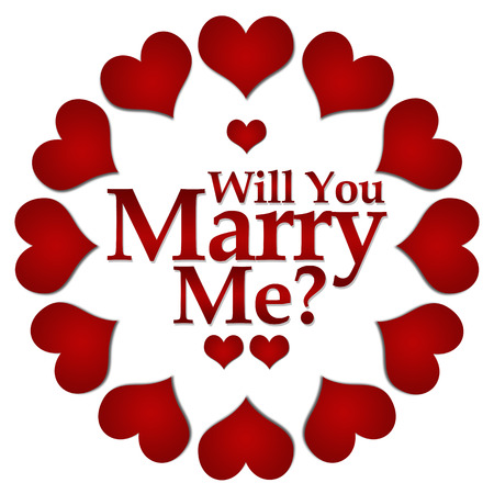 will you marry me: Will You Marry Me Red Hearts Circular Stock Photo