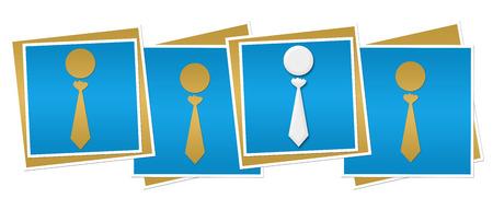 the unique: Blue Blocks With Unique Human Icons Stock Photo