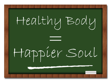 mind body soul: Healthy Body Happier Soul Classroom Board