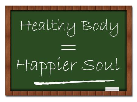 happier: Healthy Body Happier Soul Classroom Board