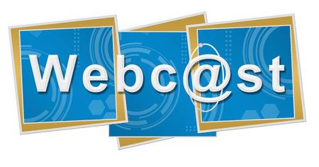 webcast: Webcast Technical Squares Stock Photo