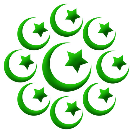 sufi: Islam Symbols Circular Green