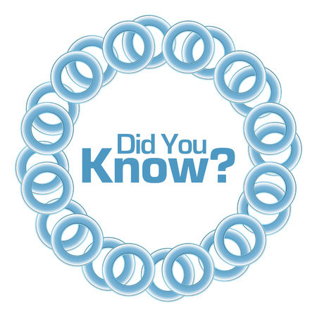 did: Did You Know Blue Rings Circular