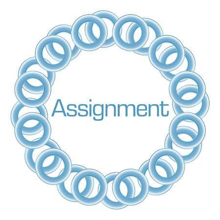 assignment: Assignment Text Inside Blue Rings Circular