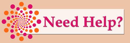need help: Need Help Pink Orange White Horizontal Stock Photo