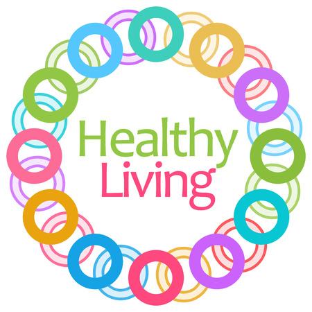 Gezond Leven Kleurrijke Rings Circular