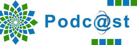 podcast: Podcast Green Blue Element Horizontal