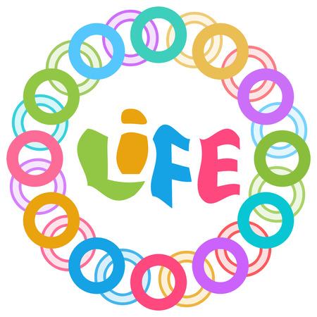 living wisdom: Life Colorful Rings Circular