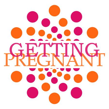 getting: Getting Pregnant Pink Orange Dots Circular Stock Photo